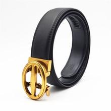 2019 Designer Belts for Men Automatic Alloy Buckle Men Belt Luxury Real Leather Strap for Male Fashion Casual Belt