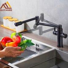 Blackend отделка складной для кухни Палуба Гора двойной ручкой Orb Смеситель Бар краны ванной раковина кран кухонной мойки смесители