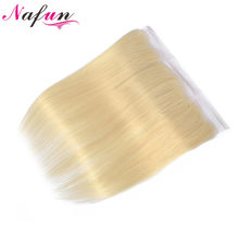NAFUN 613 Lace Frontal Closure Ear To Ear Blonde Frontal Human Hair Frontal Brazilian Straight Hair 13*4 Lace Closure Non Remy(China)