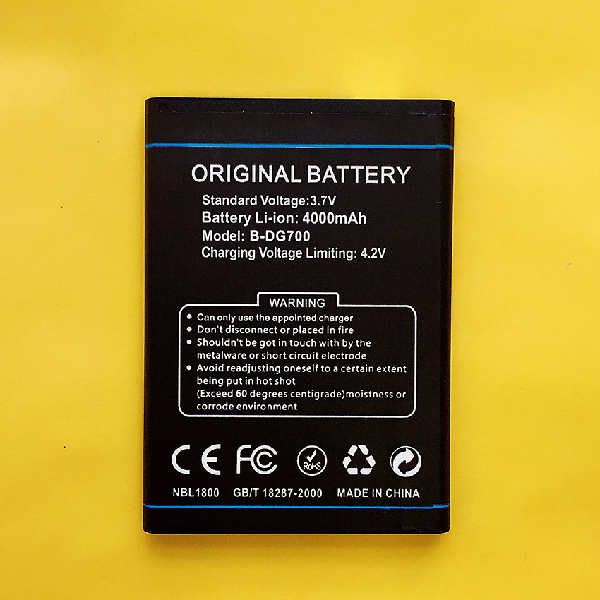 New Original B-DG700 Battery For Doogee TITANS2 DG700 BDG700 4000mAh High Quality Mobile Phone Rechargeable Batteries in stock