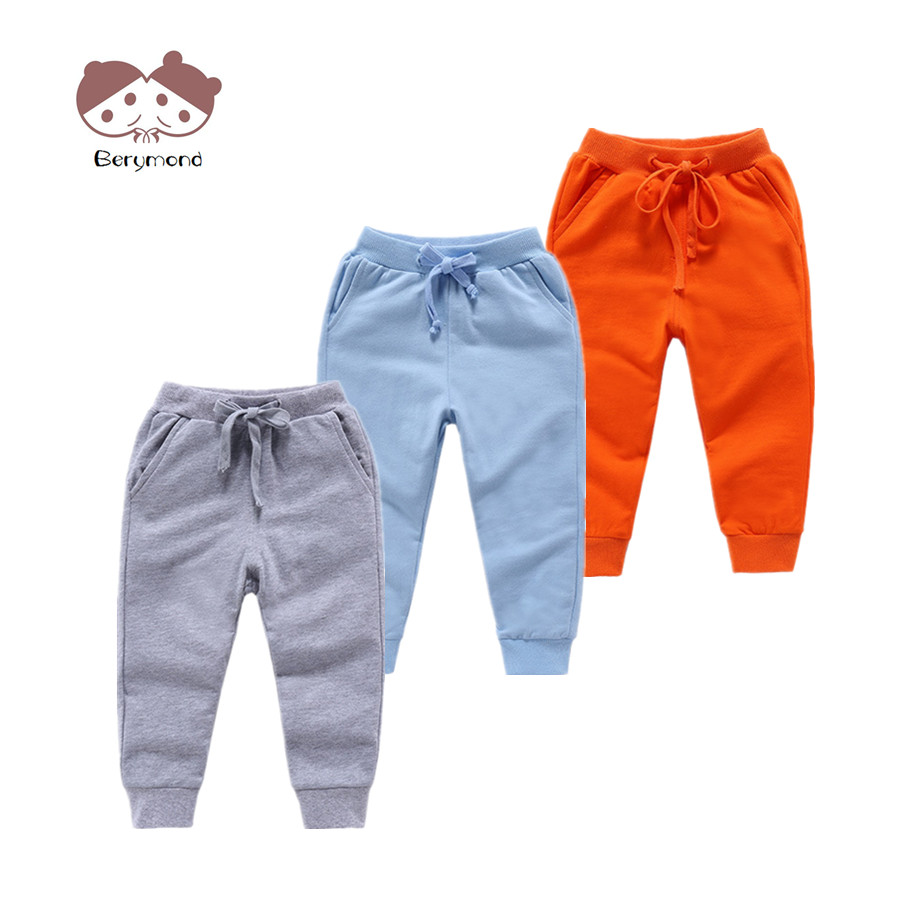 1 8T Kid Stylish Long Trousers Children Solid Color Casual Pants Autumn Spring Sport Joggers Sweatpants Boys Girls Bottom