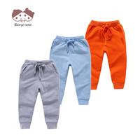2019 1 8T Kid Stylish Long Trousers Children Solid Color Casual Pants Autumn Spring Sport Joggers Sweatpants Boys Girls Bottom