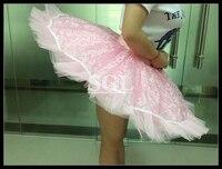 Free Shipping Retail Pink Ballet Half Tutu Skirt With Pants Child Adult Size Ballet Pancake 9