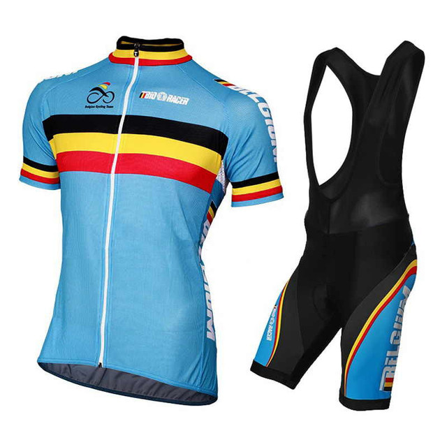 f2a820fca Belgium Cycling Jersey Summer Team Short Sleeves Cycling Set Bike Clothing  Ropa Ciclismo Cycling Clothing Sports