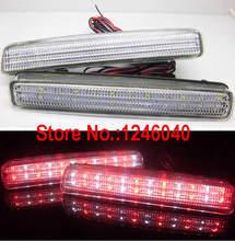 Светоотражатель для заднего бампера со светодиодными кристальными линзами, светильник п светильник, стоп-сигнал, стоп-сигнал для Toyota Spade, ...