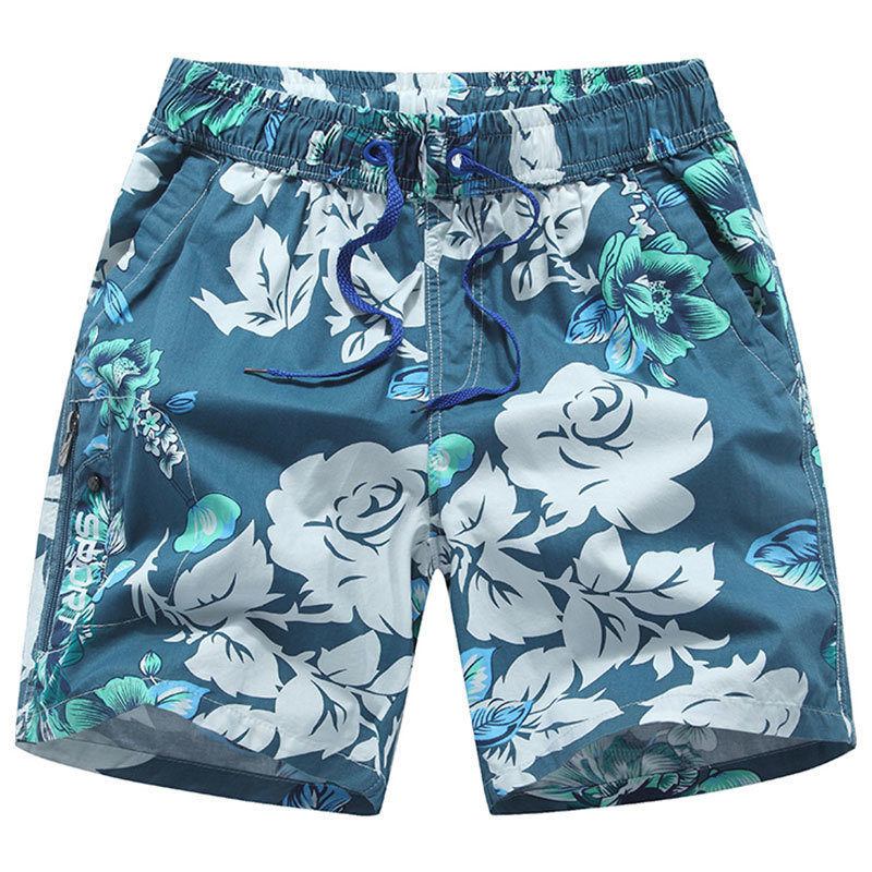 Plus Size 3XL New 3 Colors Men Beach   Board     Shorts   Cotton Sea   Shorts   Male 2018 Summer Floral Comfortable Swimsuit   Shorts   For Men