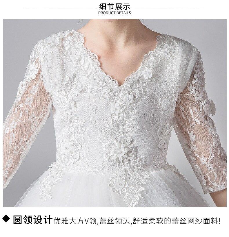 Nouvelle mode filles robe blanche princesse robes enfants traînant robe pour fête et mariage enfants robe de bal fille robe d'été - 6