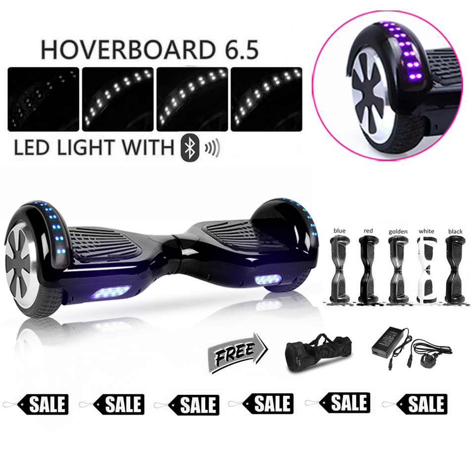 Black oxboard hoverboard 6.5 inch electric skateboard elektrische self balancing scooter space hover hoover penny balance board explore penny board 28