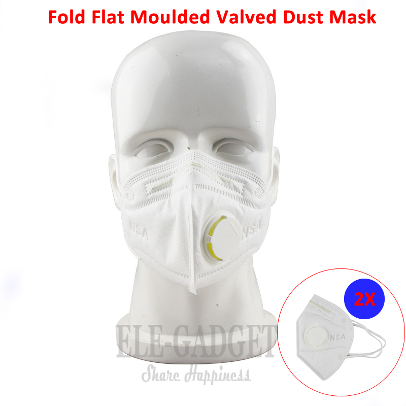 New 2-4-6-10Pcs Disposable Dust Mask With Valves Respirator Fold Flat Moulded Valved PM2.5 N95 Daily Use For Carpenter