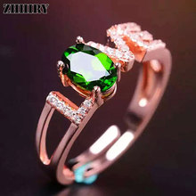 Woman Genuine Natural Diopside stone ring Actual 925 sterling silver Gold plated Madam gem Jewelry rings