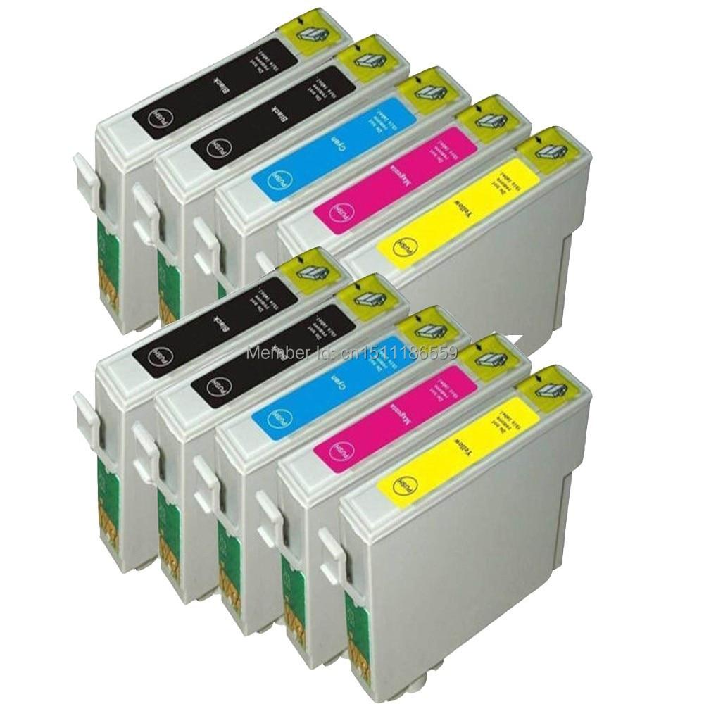 10 Tinte T0711-T0714-kompatible Tintenpatrone Für Drucker EPSON Stylus SX215 / SX218 / SX400 / SX405 / SX405WiFi / SX410 / SX415 / SX510