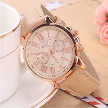 Luxury Brand Leather Quartz font b Watch b font Women Ladies Men Fashion Bracelet Wrist font