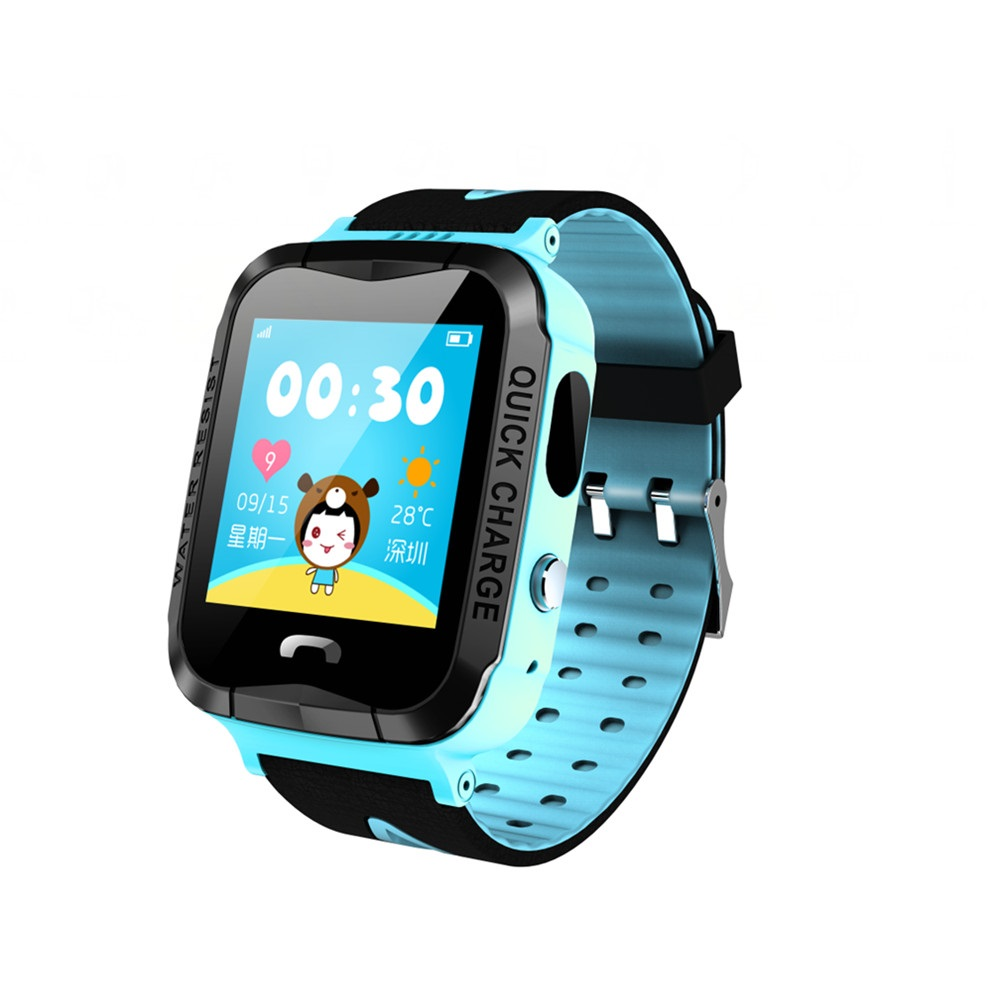 GPS V6G Smart Baby Watch with Touch Color Screen Location SOS Call Pedometer Tracker for Kid Safe Anti-Lost Monitor PK Q100 Q80