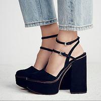 2017 Женская пикантная обувь Высокие каблуки сандалии с пряжкой обувь на платформе из замши Slingback Zapatos Mujer летние Хит; женская обувь Дамская об
