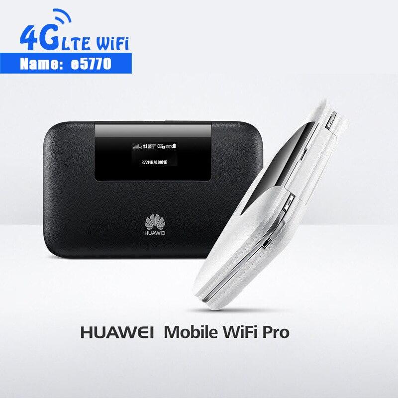 Nouveau 4G Mobile WiFi Pro Huawei E5770 E5770S-320 150 Mbps routeur Mifi avec port RJ45 + 5200 mAh batterie externe Hotspot Mobile