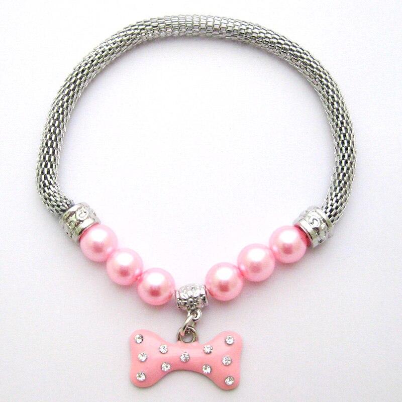 font b Pet b font Dog Chain Necklace Collar Bling Bone Charm Pendant font b