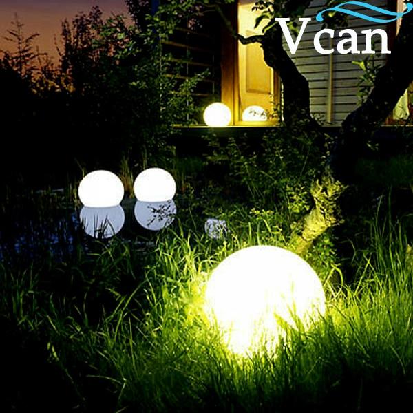 ФОТО 40cm PE Plastic white colourful LED Ball VC-B400
