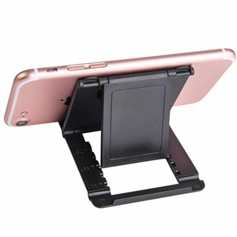 حامل هاتف حامل مكتبي لهاتفك المحمول حامل ثلاثي للهاتف آيفون Xsmax هواوي P30 شياو mi mi 9 البلاستيك طوي مكتب حامل حامل