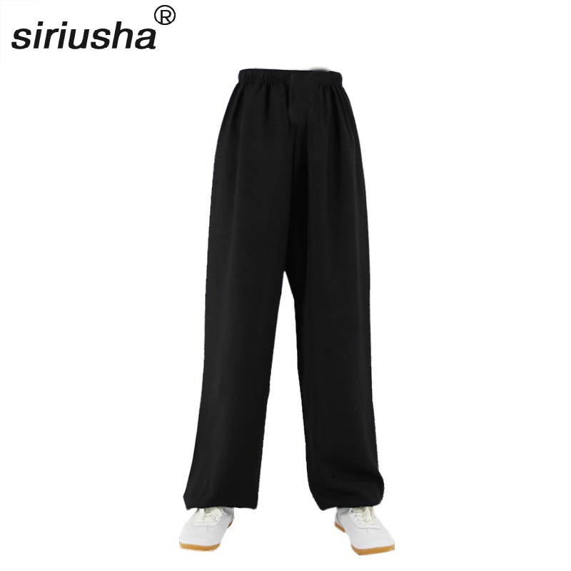 Tai Chi Gossip Multifunctional Chinese Style Lantern Trousers & Loose Casual Pants Wide Legs pants leg wide Trousers KUNGFU S112