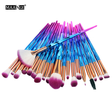 MAANGE 20Pcs Diamond Makeup Brushes Set Powder Foundation Blush Blending Eye shadow Lip Cosmetic Beauty Make Up Brush Tool Kit