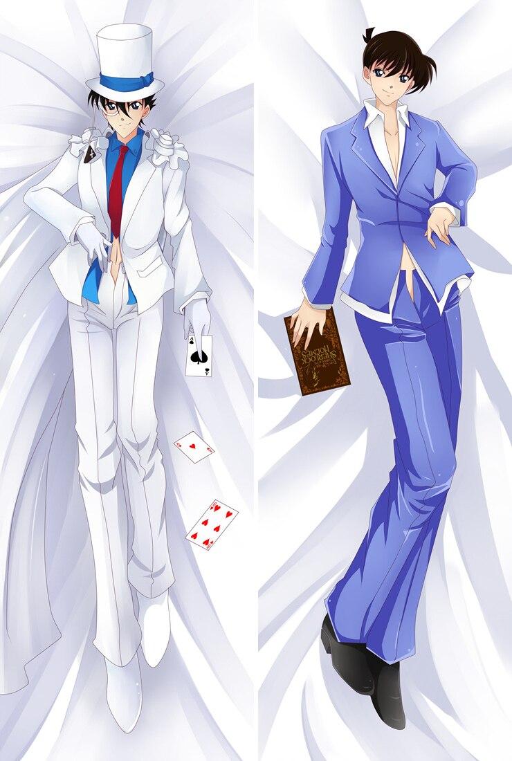 Japanese Anime Detective Conan character Kaitou Kiddo & Edogawa Dakimakura throw pillow cover Hugging Body pillowcase