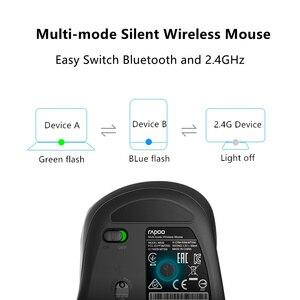 Image 4 - Rapoo souris sans fil M500, multi mode silencieuse Bluetooth et 1600 GHz, avec commutateur facile, 2.4 DPI, jusquà 3 appareils, pour ordinateur