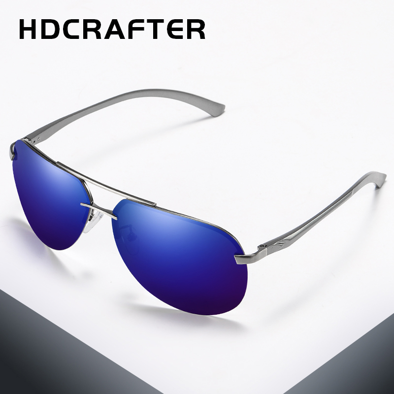 HDCRAFTER бренд Для мужчин поляризованных солнцезащитных очков сплава рама солнцезащитные очки модные Для мужчин вождения солнцезащитные очки