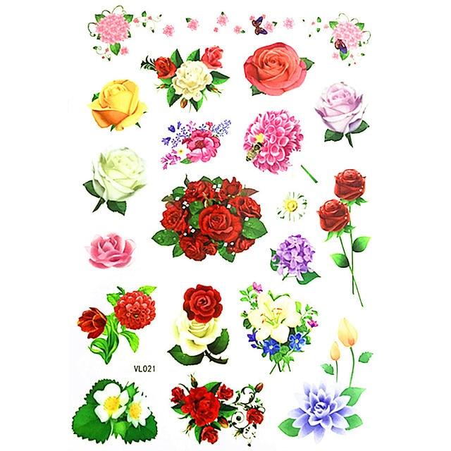 20178 todos os tipos de flores crian a tatuagem tempor ria - Clase de flores y sus nombres ...