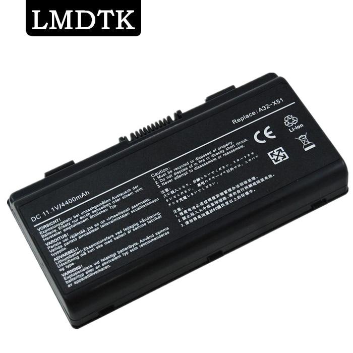 LMDTK Nueva batería portátil para Asus X51C X51H X51L X51R X51RL X58 X58C X58L X58Le 90-NQK1B1000Y A32-X51 envío gratis
