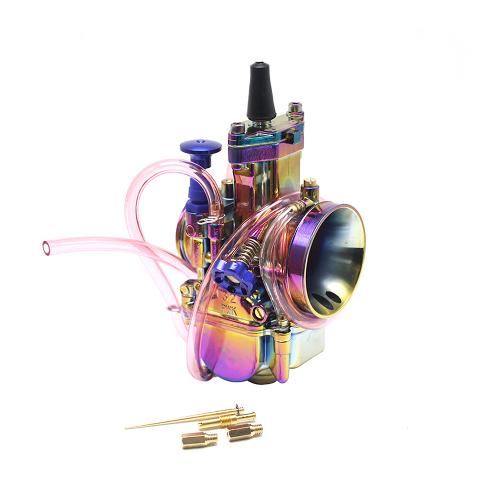 все цены на ZS MOTOS Universal PWK 28 30 32 34mm Carburetor Colorful CARB Motorcycle RACING PARTS Scooters Dirt Bike ATV with Power Jet онлайн