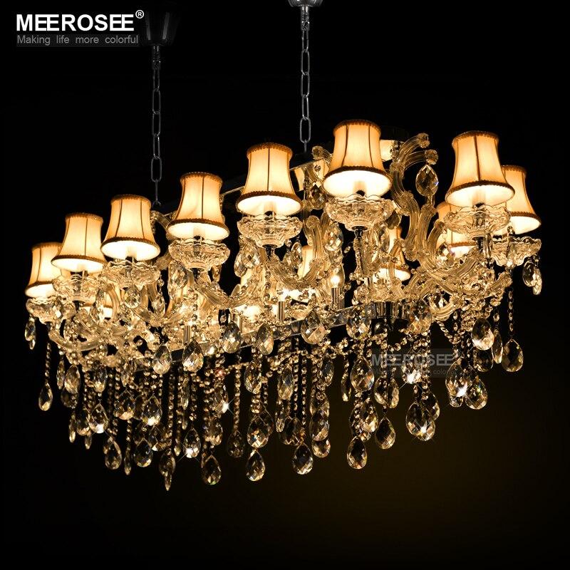 Rectangle Crystal Chandelier Light Fixture Lamparas de techo Hanglamp lustre for Hotel Restaurant Living Room MD32011