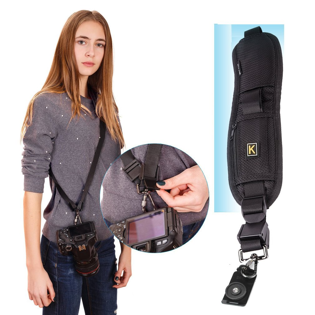 Quick Sling Camera Single Shoulder Belt Adjustable Shockproof Nylon Strap For Canon For Sony For Nikon SLR DSLR Cameras