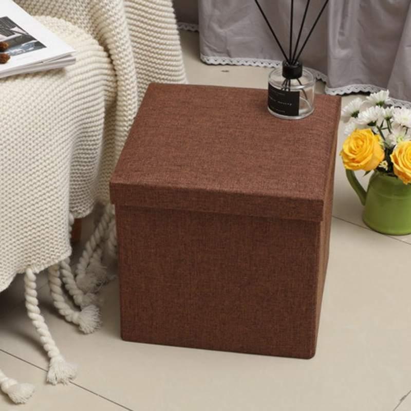 Couleur Pure enfants pliant Lidded boîte de rangement anti-poussière organisateur Cube panier organisateur pour enfants jouets vêtements livres bureau - 3