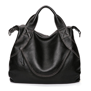 Women's Genuine Leather Shoulder Slung Bag Head Layer Leather Retro Neutral Fashion Multi-Function Large Capacity Handbag Handbags