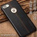 Ручной Натуральной Кожи Назад Случаи для iPhone 7 Case Роскошные Подлинная Кожа Телефон Кожи Ультратонких Обложка для Apple iPhone7 7 плюс