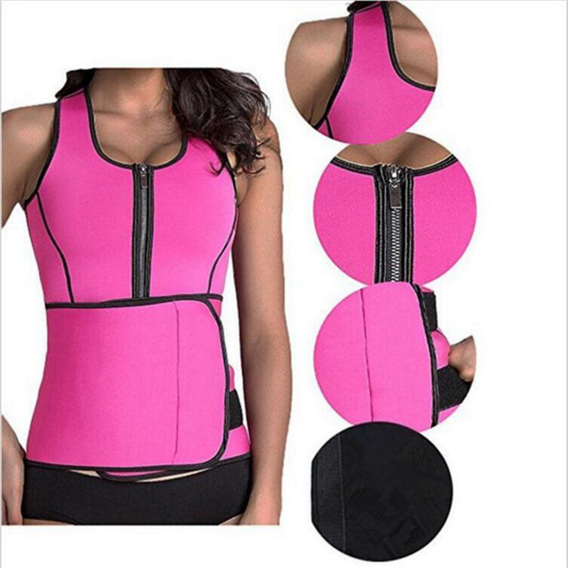 Sauna Suit | Tank Top Vest | Waist Trimmer with Adjustable Waist Trainer Belt