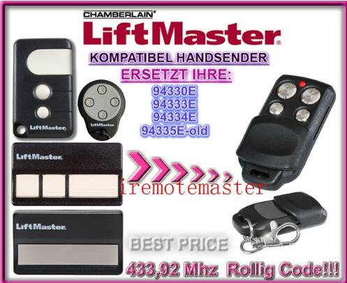 DHL free shipping! Chamberlain liftmaster 94335e 94330e 94334e 94333e replacement garage door remote control 433mhz
