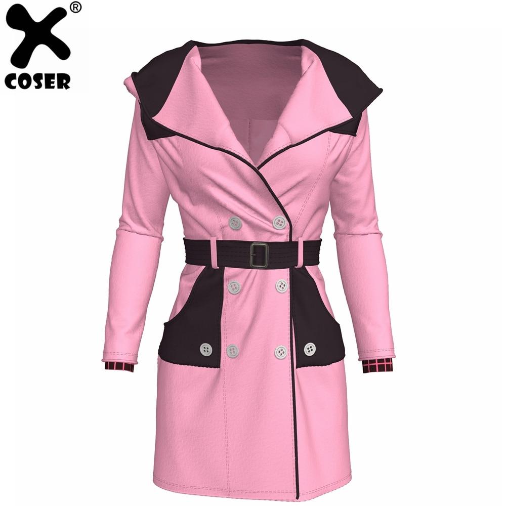 XCOSER Kingdom Hearts 3 Kairi Coat Creative Dust Coat Jacket Pink Polyester High Quality Halloween Cosplay Costume For Women
