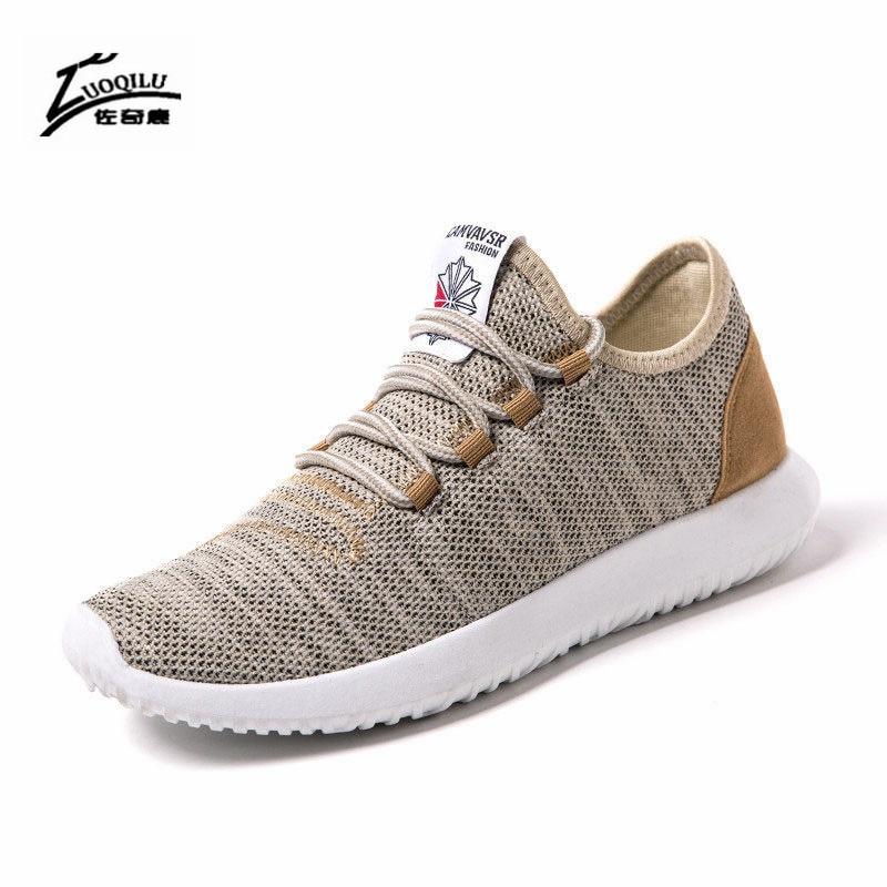 Brand 2018 Summer Mesh Men Shoes Breathable Loafers Black Shoes - Мужская обувь - Фотография 2