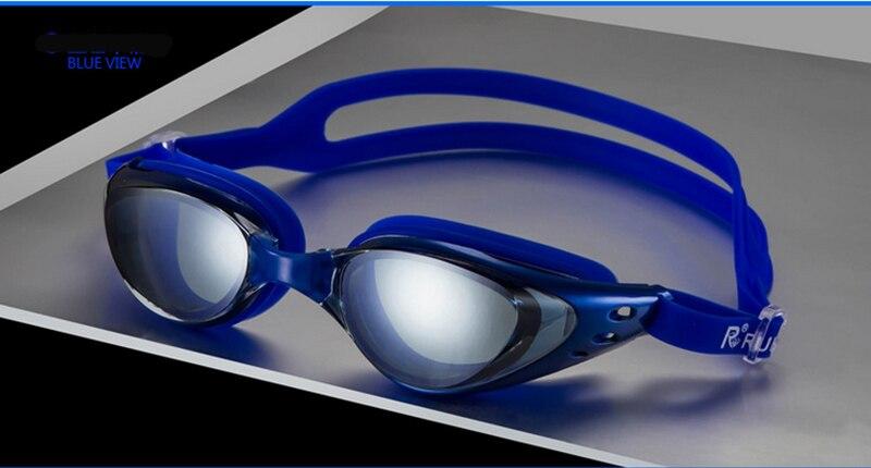Hommes femmes Myopie lunettes de natation myopie lunettes de natation lunettes miroir submersible anti-brouillard étanche 200-800 degrés