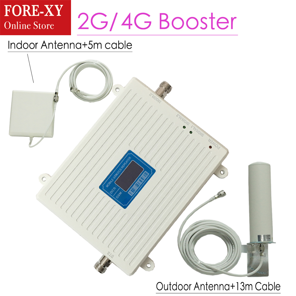 Signal Booster Repeater GSM 900 1800 Mhz Dual Band 2G 900MHz 1800MHz LTE 4G Cell Phone Signal Repeater 13M Cable Kit amplifierSignal Booster Repeater GSM 900 1800 Mhz Dual Band 2G 900MHz 1800MHz LTE 4G Cell Phone Signal Repeater 13M Cable Kit amplifier