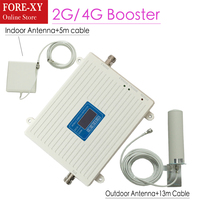 Signal Booster Repeater GSM 900 1800 Mhz Dual Band 2G 900MHz 1800MHz LTE 4G Cell Phone Signal Repeater 13M Cable Kit amplifier