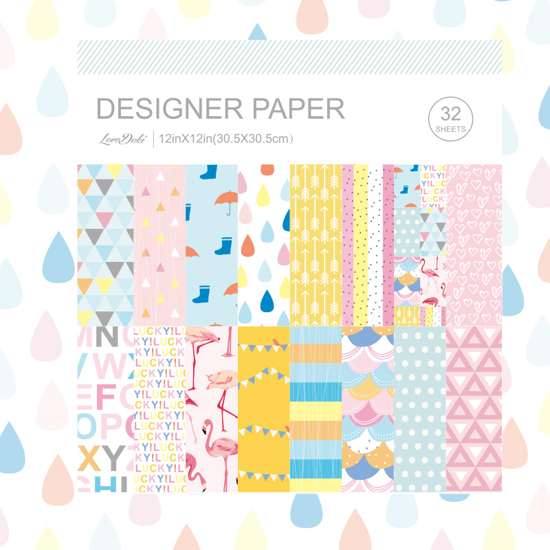 lovedoki 2017 Spring Decoration Paper 32 Sheets Square THE BEST DREAMS For Dokibook