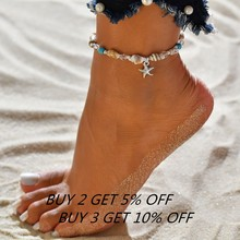Bohemian Colorful Turkish Eyes Anklets for Women Gold Color Beads Summer Ocean Beach Ankle Bracelet Foot Leg Jewelry 2019 Korea(China)