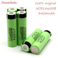100% New Original NCR18650B 3.7 v 3400 mah 18650 Lithium Rechargeable Battery For Panasonic Flashlight batteries