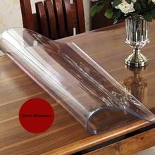 Специальная толстая 3 мм толщина Прозрачная ПВХ скатерть waterprrof oilproof термостойкая пластиковый коврик для стола обеденный стол Крышка