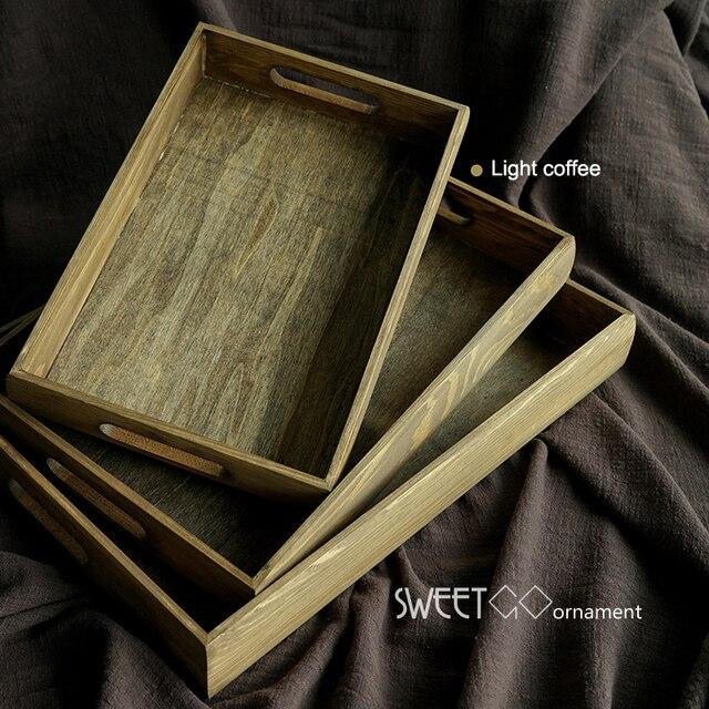 Sweetg Vintage Holz Tablett Handgemachten Rechteck Cupcake Palette