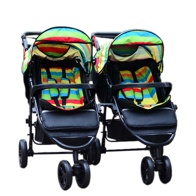 Twins Strollers Baby Strollers 3 In 1 Carriage Prams Folded Baby Kinderwagen Luxury Landscape Carts Stroller GH263