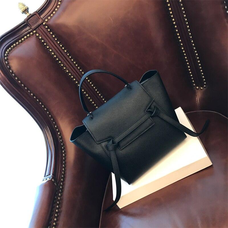 2018 di Nuovo modo genuino sacchetto di cuoio della mucca borsa di stampa di Palma per la donna borse trapeze multicolor borse della spalla