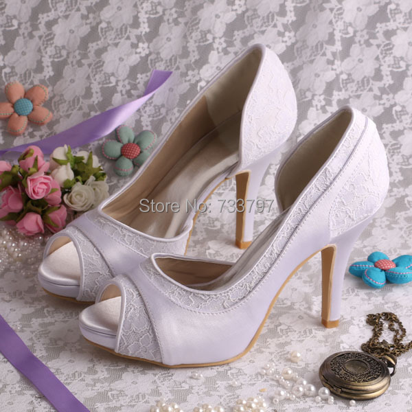 (20 Colors)2016 Summer White Platform Shoes Wedding High Heeled Size 8 Open Toe